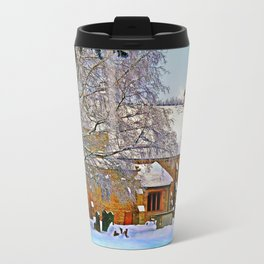 Warmth of a Church in Winter.  Travel Mug