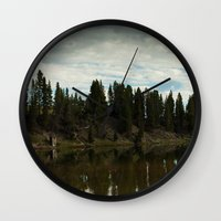country Wall Clocks featuring Country  by Julie Luke