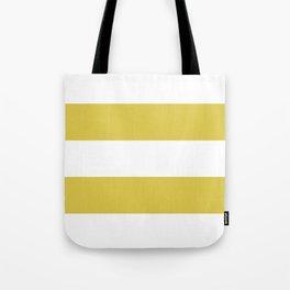 MUSTARD & WHITE STRIPE Tote Bag