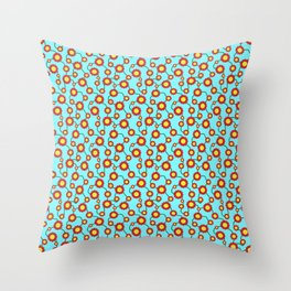 Connected Flowers Throw Pillow