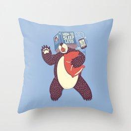 How To Sleep Less Book Throw Pillow