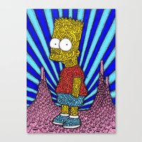 simpson Canvas Prints featuring Bart Simpson by OKAINA IMAGE