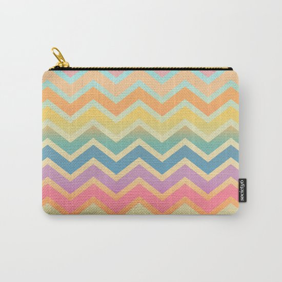 Summer-color Chevron Carry-All Pouch