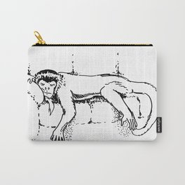 Sleepy Monkey on Couch Carry-All Pouch