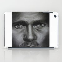 brad pitt iPad Cases featuring Brad Pitt by Future Illustrations- Artwork by Julie C