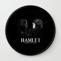 hamlet Wall Clocks featuring Hamlet: Prince of Mars by Caitlin Taduran