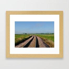 Prairie Tracks Framed Art Print