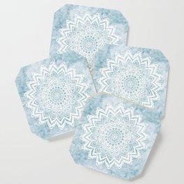 LIGHT BLUE MANDALA SAVANAH Coaster