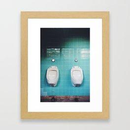 Pissing Contest Framed Art Print