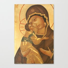 Orthodox Icon of Virgin Mary and Baby Jesus Canvas Print