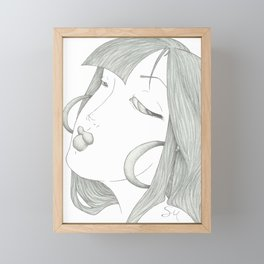 Fed Up Eyes Framed Mini Art Print