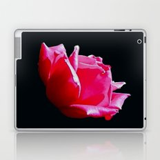 rose on black Laptop & iPad Skin