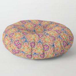hippie - pattern colorfull Floor Pillow