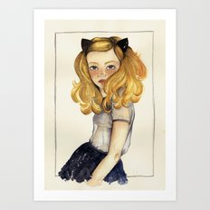 Olivia and the Halloween Art Print