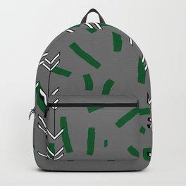CONFETTI GREEN TRACKS Backpack