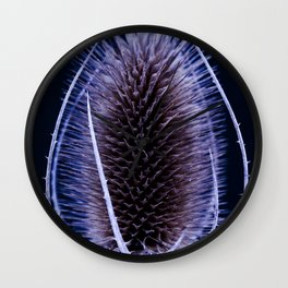 Blue Teasel Wall Clock
