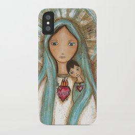 Immaculate Conception with Child iPhone Case