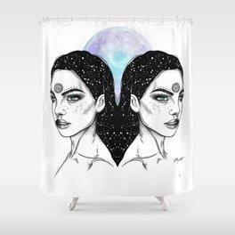 Gemini - Zodiac Series Shower Curtain