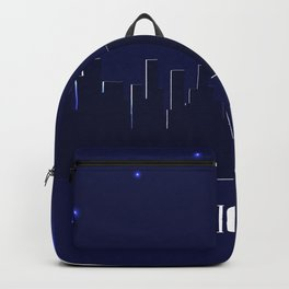 Chicago skyline silhouette at night Backpack