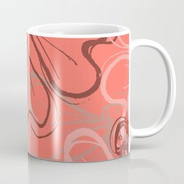 Living Coral Florals Coffee Mug