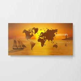 Sailing Around The World Metal Print