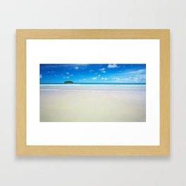 Lonely Island - Tropical Horizon Series Framed Art Print