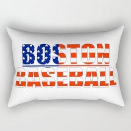Baseball USA Blue and Red Rectangular Pillow