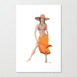 Minimalist Girl Canvas Print