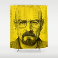 heisenberg Shower Curtains featuring Heisenberg by Juan Rodriguez Cuberes