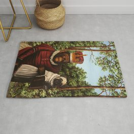 Monkey Queen with Pug Baby Rug
