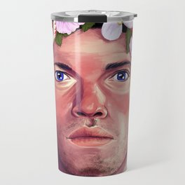 A Halo of Flowers Travel Mug