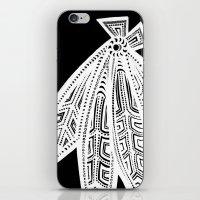 blackhawks iPhone & iPod Skins featuring Inverted Chicago Blackhawks by Alexandra Nee