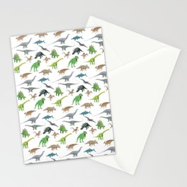 Various Dinosaurs Pattern Stationery Cards
