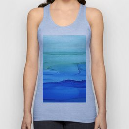 Alcohol Ink Seascape Unisex Tank Top
