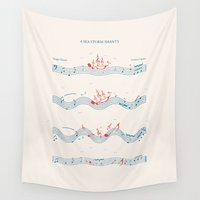 nautical Wall Tapestries featuring Nautical Notation by Quick Brown Fox