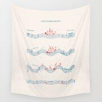 nautical Wall Tapestries featuring Nautical Notation by John Tibbott