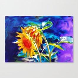 Sunflowers By Annie Zeno Canvas Print