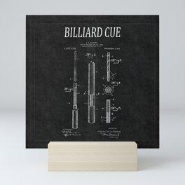 Billiard Cue Patent 2 Mini Art Print