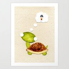 Tortoise wants a New Home Art Print