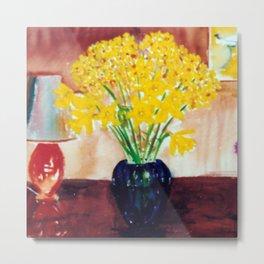 Daffodils  and Jonquils             by      Kay Lipton Metal Print