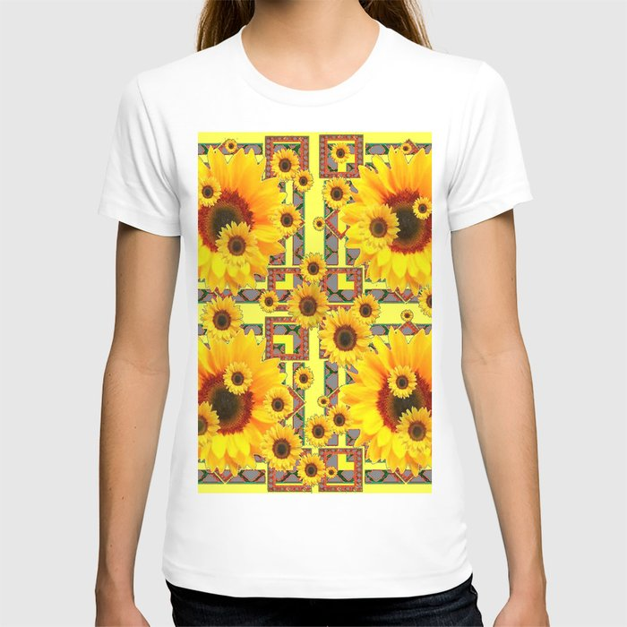 KANSAS WESTERN STYLE YELLOW SUNFLOWER FLORAL T-shirt