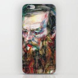FYODOR DOSTOYEVSKY - watercolor portrait.3 iPhone Skin