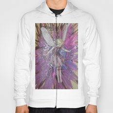 Pink Lady Garden Fairy Art Hoody