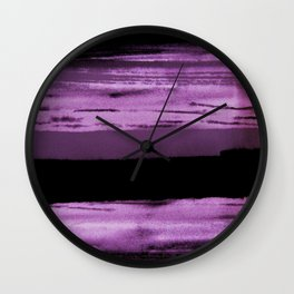 pink and black abstract painting Wall Clock