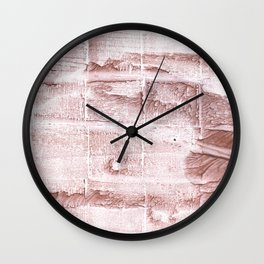 Rosy brown blurred watercolor pattern Wall Clock
