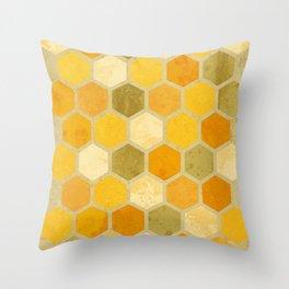 Comb on Bee happy Throw Pillow