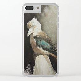 Sunbathing Kookaburra Clear iPhone Case