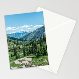 Colorado Wilderness // Why live anywhere else? Amazing Peaceful Scenery with Evergreen Dusted Hills Stationery Cards