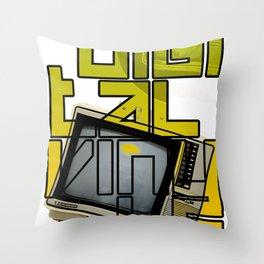 Digital Vinyls 2.0 Throw Pillow