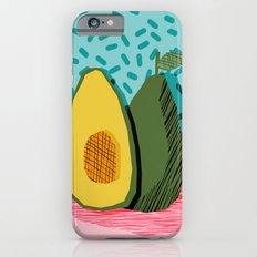 Choice - wacka memphis throwback retro neon fruit avocado vegetable vegan vegetarian art decor iPhone 6 Slim Case